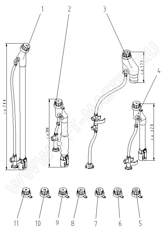 Схема 1 (Растворные пистолеты