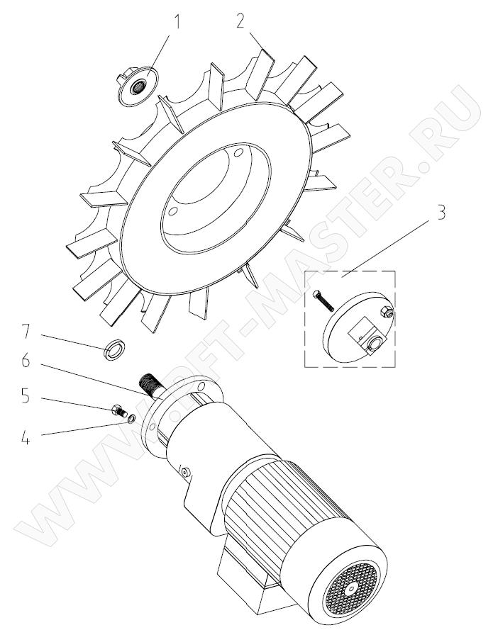 Схема 2 (Лопастное колесо