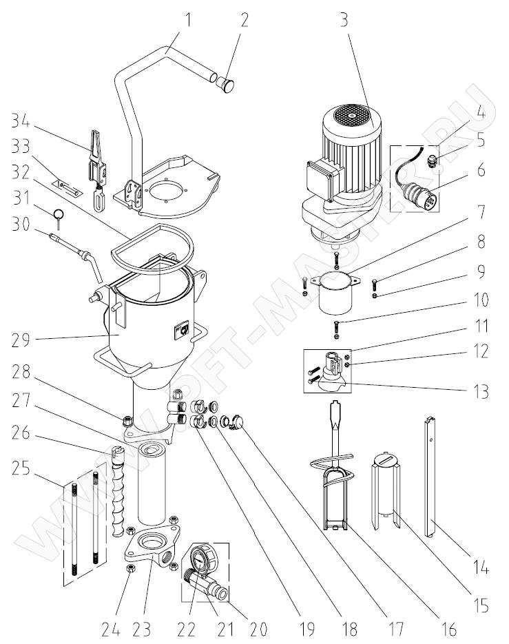 Схема 3 (Приводной двигатель