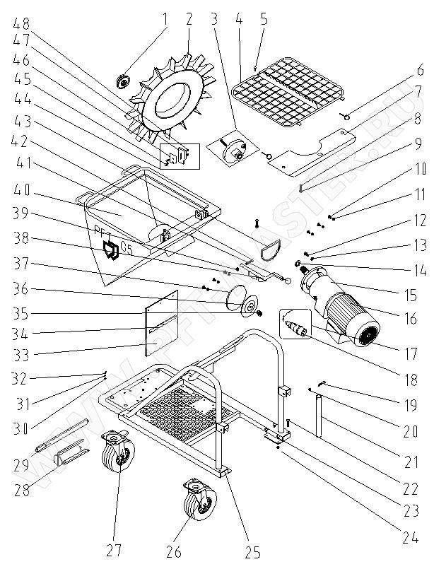 Схема 1 (Список запчастей для