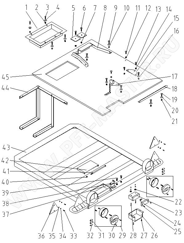 Схема 1 (Перечень запасных